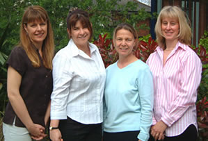Kingston Hospital NHS Trust, Kingston on Thames, UK. Left to right:  Fran Brooke-Pearce,  Pat Cattini, Dr Jill Leach, Zoe Brockbank
