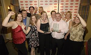 Previous winners of the Oxoid Awards celebrating at the Awards Dinner in 2006