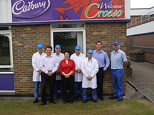 The third prize was awarded to the food safety team at Cadbury Trebor Bassett's laboratory in Chirk, North Wales