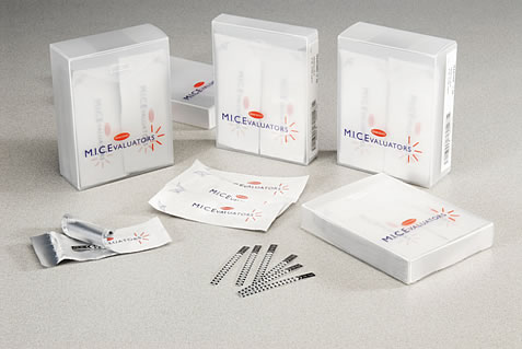 To minimise wastage, M.I.C.E. strips are individually foil wrapped and available in stackable boxes of 10 and 50 strips.