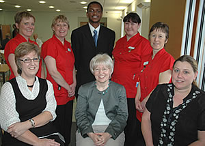 Representatives from Worcester Acute NHS Trust, the 2007/2008 Oxoid Infection Control Team of the Year: l-r back row; Sarah Cope and Susan Pitts – Infection Control Nurses, Lincoln Chibge - HCAI Clinical Implementation Nurse, Heather Gentry and Rachael Allen – Senior Infection Control Nurses. l-r front row; Janet Turner – Directorate Support Officer, Dr Anne Dyas – Director of Infection Prevention Control, Louise Poole – MRSA Screening Assistant.
