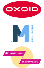 Oxoid, Millipore and Mycoplasma Experience Logos