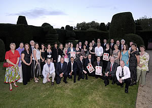 Winners of the 2006/2007 Oxoid Awards, photographed at the Awards ceremony