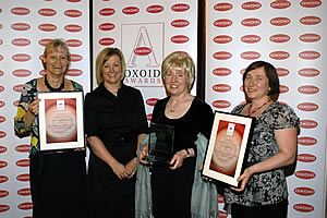 Winners of the 2007/2008 Oxoid Infection Control Team of the Year Awards receiving their prizes.