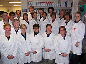 The laboratory team at Fonterra Clandeboye, Timaru, New Zealand, 2nd prize winners in the 2007/2008 Oxoid Food Safety Team of the Year Awards.