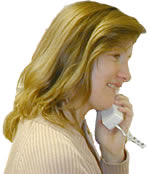 Customer Service talking with customer on phone